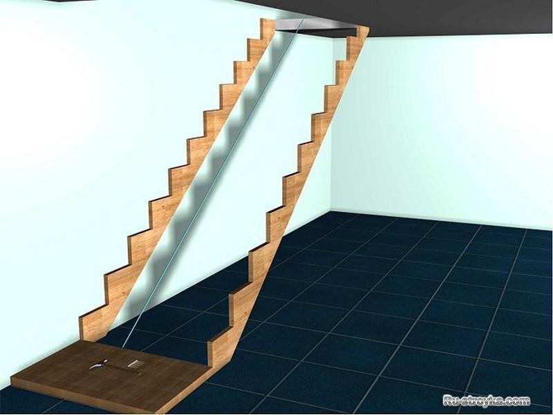 Закрепить лестницу