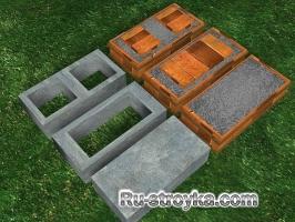Как смонтировать бетонные блоки.