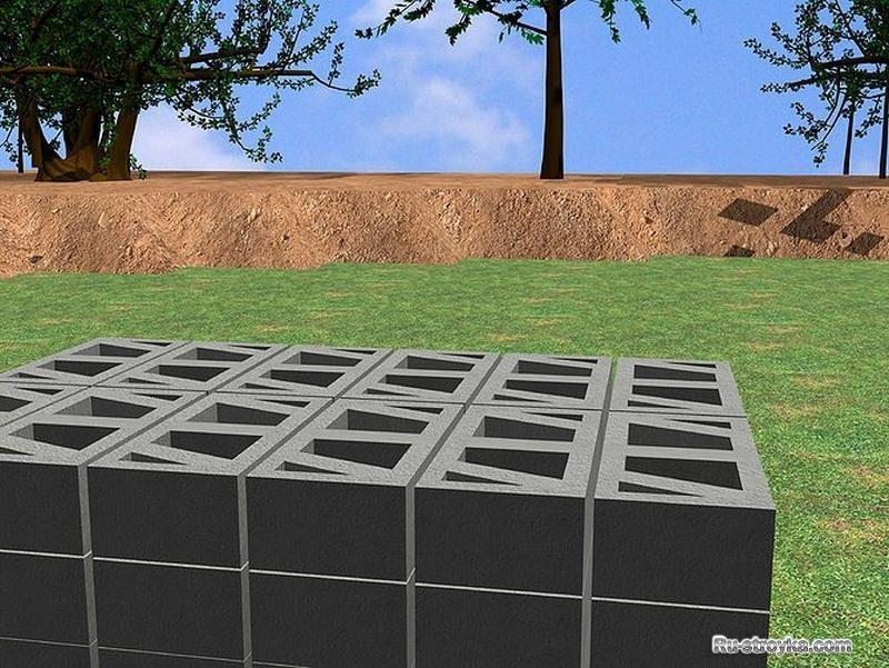 Подпорная стенка своими руками из блоков