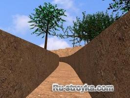 Как построить подпорную стенку из блоков.