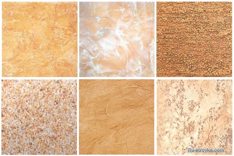 Текстурная краска эффект короед