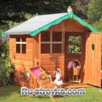 Строим детский домик на дачном участке