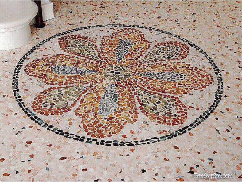 Мозаичный рисунок из мраморной крошки