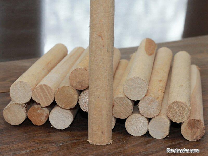 Деревянный нагель для бруса
