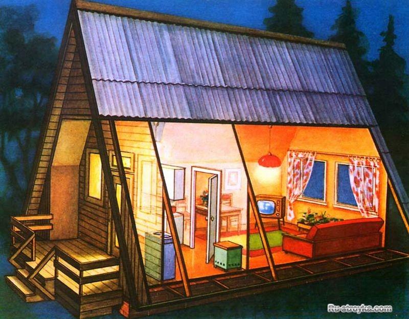 Садовый домик своими руками чертежи